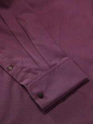 Chianti Purple Cotton Tailored Fit Evening Solid Shirt