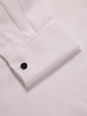 Cione White Cotton Classic Fit Formal Solids Shirt