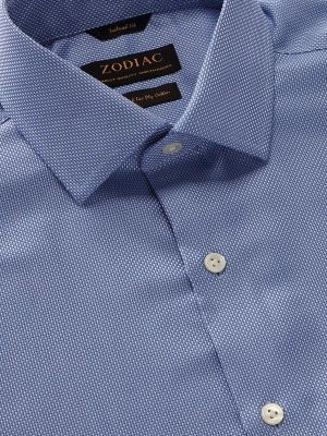 Cione Tailored Fit Blue Shirt