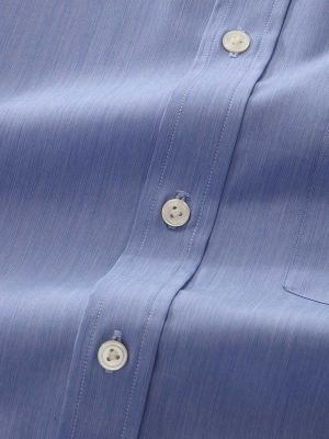 Bankers Medium Blue Cotton Classic Fit Formal Solid Shirt