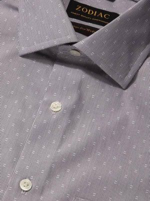 Cricoli Anthra Cotton Tailored Fit Formal Stripes Shirt