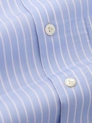 Bankers Sky Cotton Tailored Fit Formal Stripes Shirt