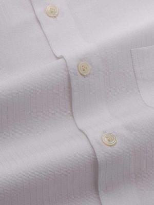 Da Vinci White Cotton Tailored Fit Formal Solids Shirt