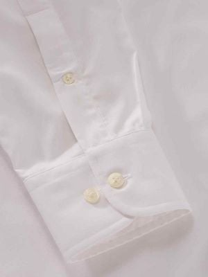 Easy White Blended Classic Fit Formal Solid Shirt