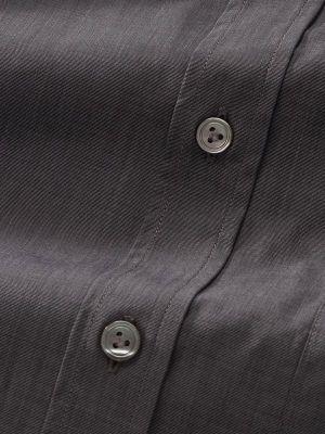 Fil A Fil Anthra Cotton Classic Fit Evening Solids Shirt