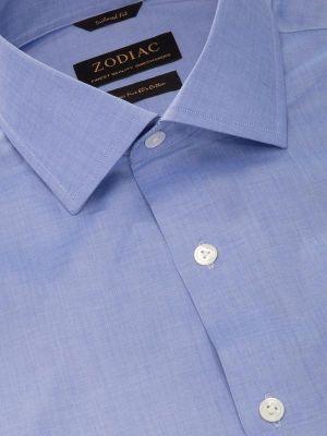 Fil A Fil Pastel Tailored Fit Sky Shirt