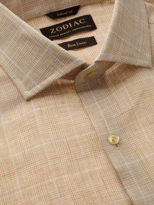 Positano Linen Tailored Fit Beige Shirt
