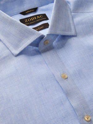 Positano Linen Tailored Fit Sky Shirt
