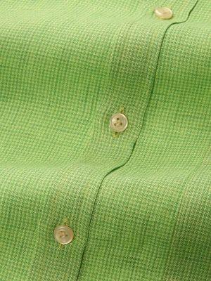 Positano Linen Classic Fit Lime Shirt