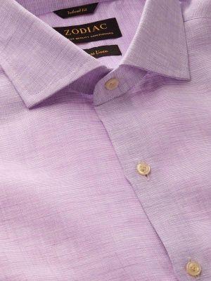 Fil A Fil Linen Tailored Fit Lilac Shirt