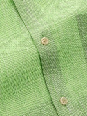 Fil A Fil Linen Tailored Fit Mint Shirt