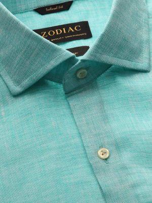 Positano Linen Tailored Fit Aqua Shirt