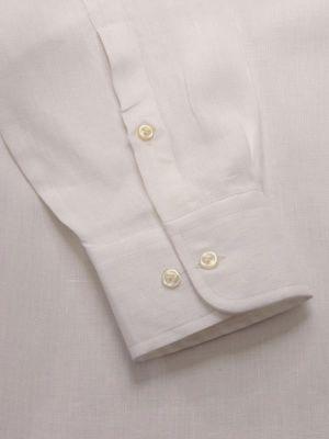 Positano Linen Tailored Fit White Shirt