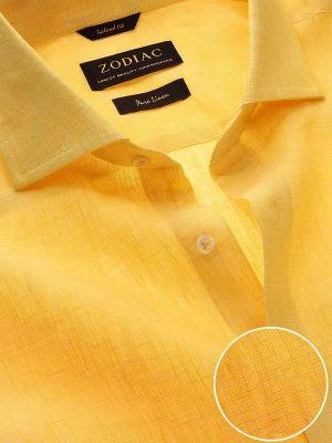 Positano Linen Tailored Fit Yellow Shirt