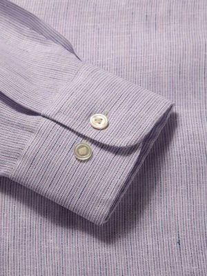 Positano Linen Tailored Fit Lilac Shirt