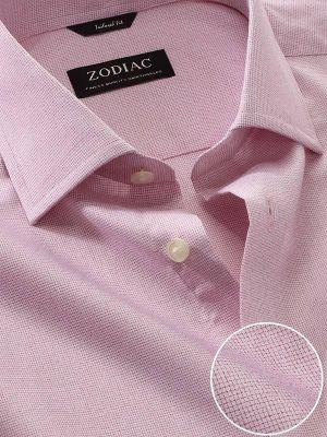 Mazzaro Pink Cotton Tailored Fit Formal Checks Shirt