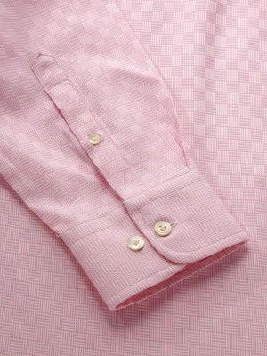 Monteverdi Pink Cotton Classic Fit Formal Solids Shirt