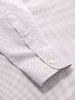 Palladio Pink Cotton Classic Fit Formal Checks Shirt