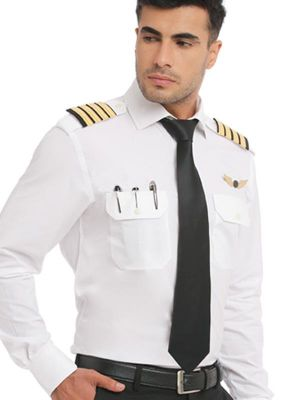 Pilot White Blended Classic Fit Formal Solids Shirt