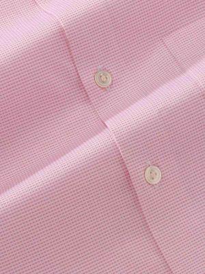 Ponte Pink Cotton Tailored Fit Formal Checks Shirt