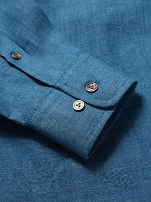 Praiano Tailored Fit Turquoise Shirt