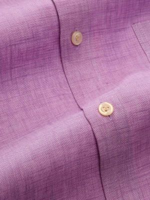 Praiano Linen Tailored Fit Lilac Shirt