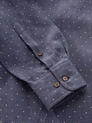 Praiano Classic Fit Navy Shirt