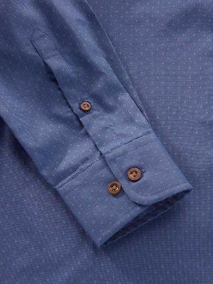 Savuto Navy Cotton Tailored Fit Evening Solids Shirt