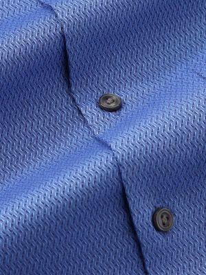 Savuto Blue Cotton Tailored Fit Evening Solids Shirt