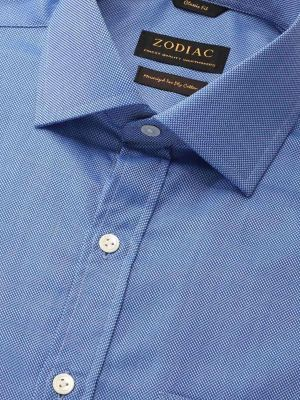 Structure Ink Cotton Tailored Fit Formal Solids Shirt