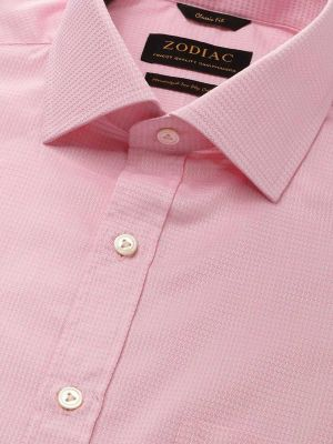 Tramonti Pink Cotton Classic Fit Formal Solids Shirt