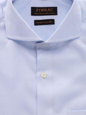 Tramonti Tailored Fit Extreme Cut Away Collar Sky Shirt