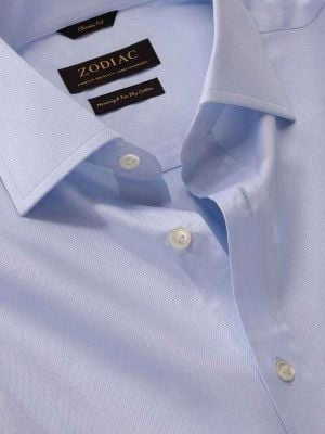 Tramonti Sky Cotton Classic Fit Formal Solid Shirt