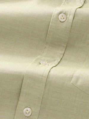 Venete Mint Cotton Classic Fit Formal Melange Solids Shirt