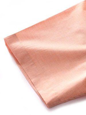 Venete Orange Cotton Classic Fit Formal Melange Solids Shirt