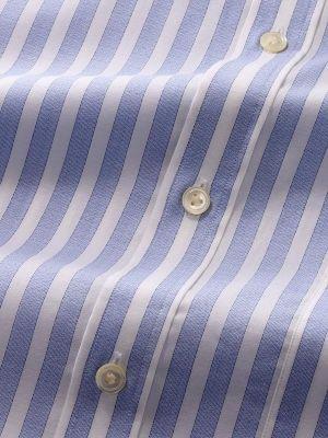 Venete Sky Cotton Classic Fit Formal Stripes Melange Shirt