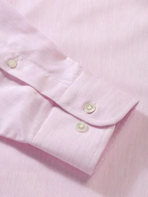 Vercelli Pink Cotton Classic Fit Formal Stripes Shirt