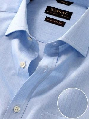 Vercelli Sky Cotton Classic Fit Formal Solid Shirt