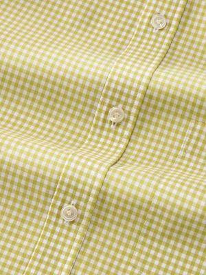 Vivace Lime Cotton Classic Fit Formal Checks Shirt