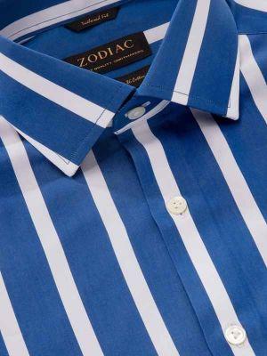 Vivace Tailored Fit Blue Shirt