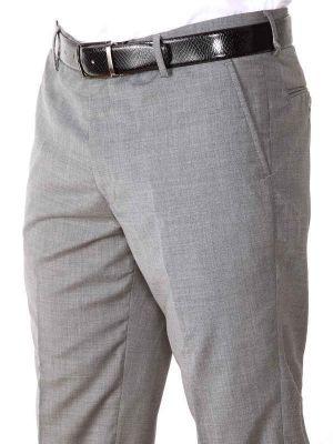 Pollone Slim Fit Light Grey Trouser