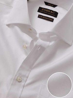 Bertolucci White Cotton Classic Fit Formal Solids Shirt