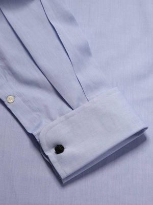 Chambrey Sky Cotton Classic Fit Formal Solids Shirt