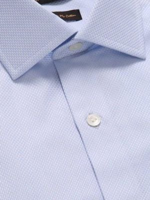 Cione Sky Cotton Tailored Fit Formal Solids Shirt