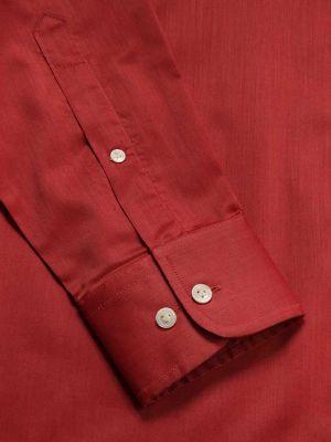 Fine Orange Cotton Classic Fit Evening Solids Shirt