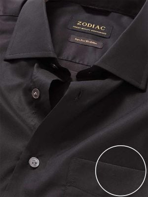Fine Anthra Cotton Classic Fit Evening Solids Shirt