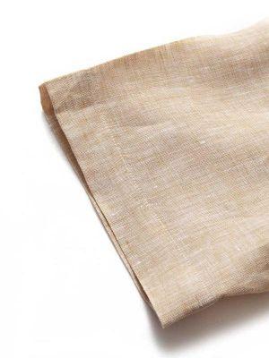 Positano Linen Tailored Fit Short Sleeves Sand Shirt