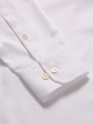 Tramonti White Cotton Tailored Fit Formal Solids Shirt