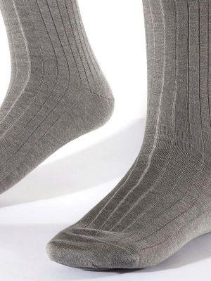 Moderena Melange Rib Light Grey Socks