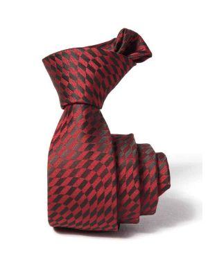 ZT-223 Structure Burgundy Slim Tie